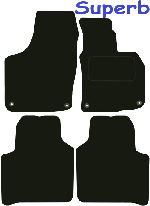 Skoda Octavia DELUXE QUALITY Tailored mats 2008 2009 2010 2011 2012 2013